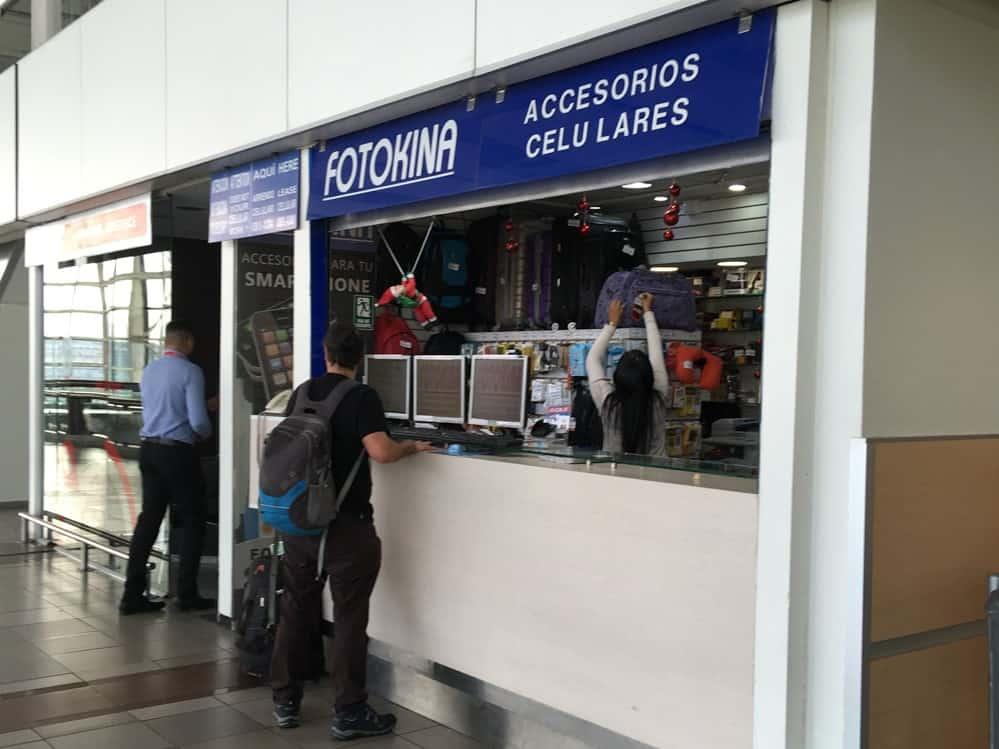 Fotokina Kiosk, Santiago airport