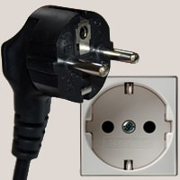 Type F plug and socket