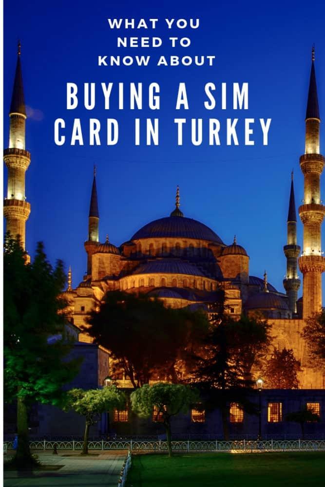 Buying a SIM card in Turkey