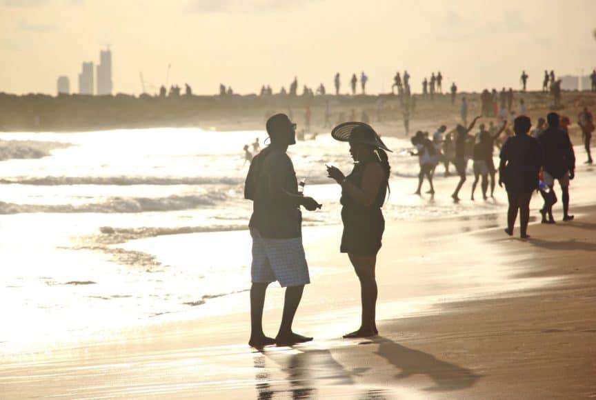 Lagos beach scene