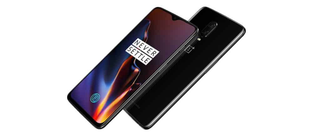 OnePlus 6T front and back