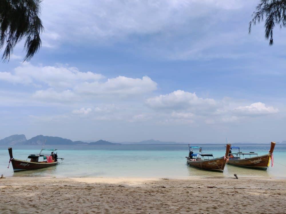 Three longtails, Thai islands