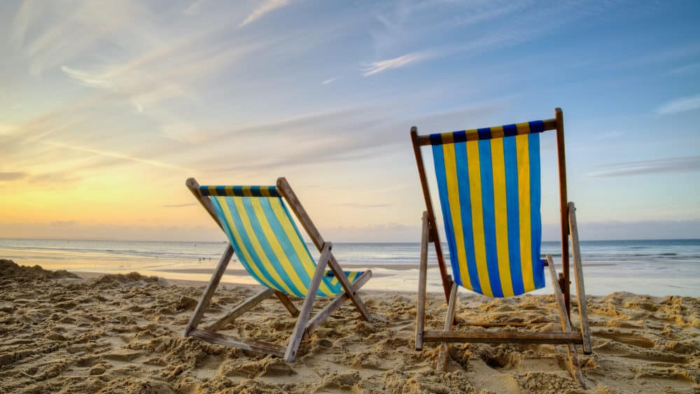 Deckchairs on the beach
