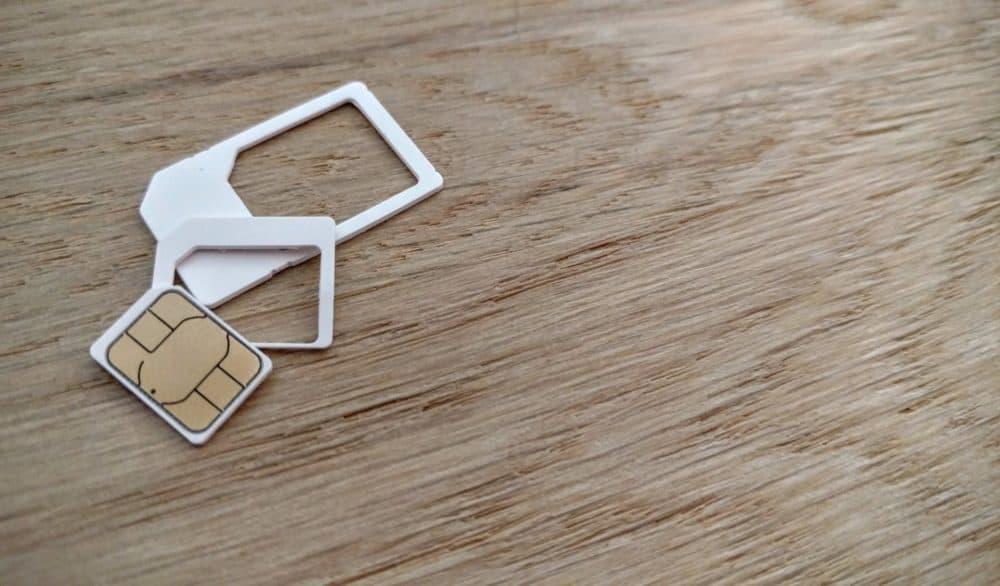 SIM card and plastic holders