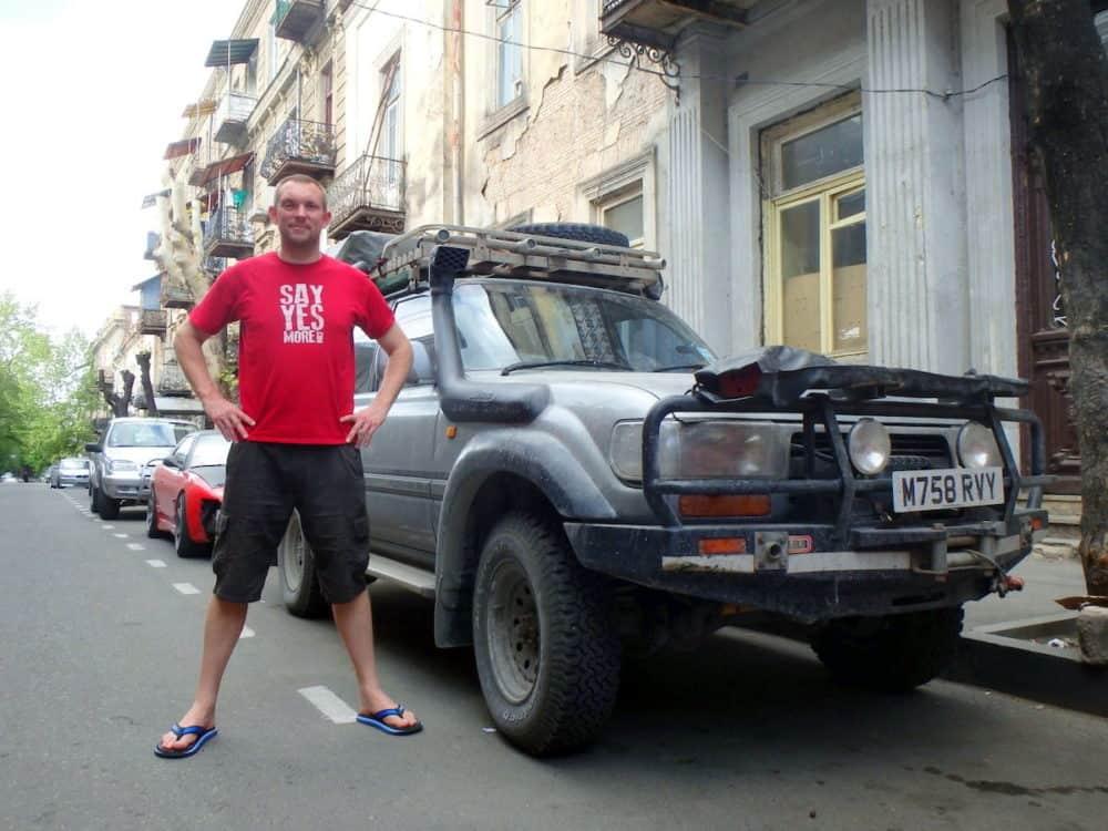 Boris and Jon in Tbilisi, Georgia