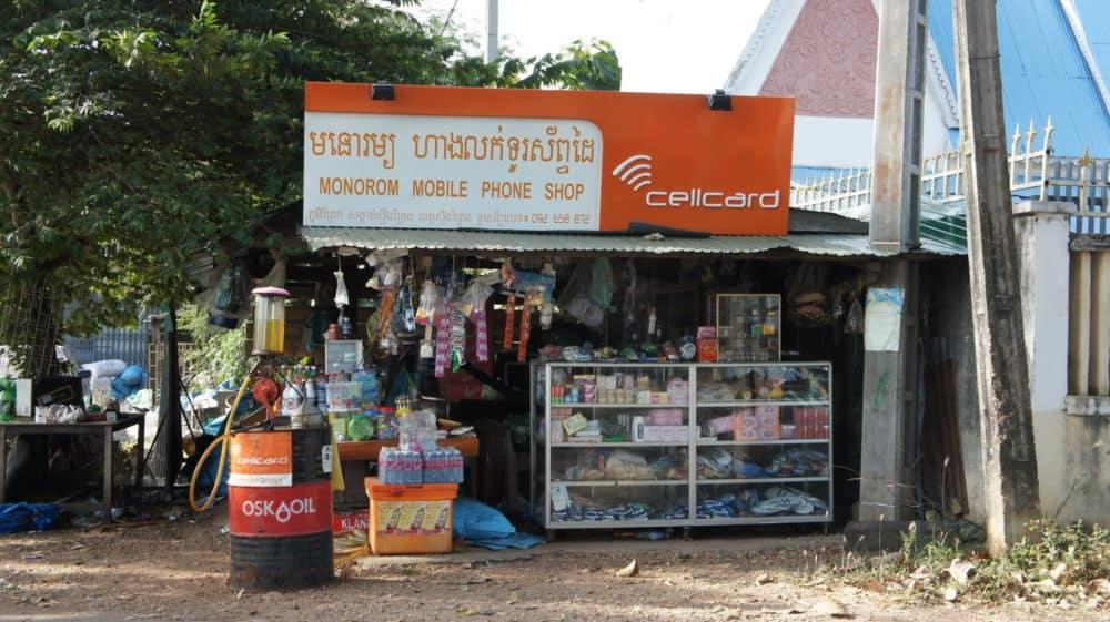 Cellcard street vendor in Cambodia