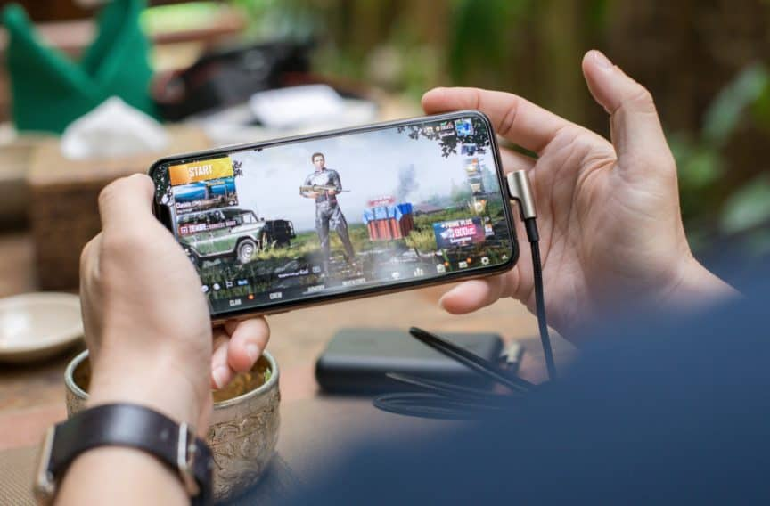 Game being played on smartphone