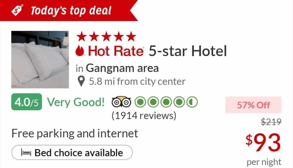 Gangnam area 5-star hotel