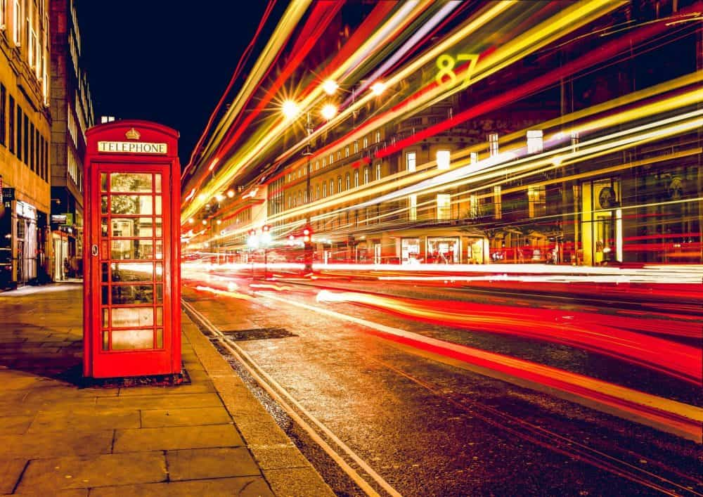London street and phone booth