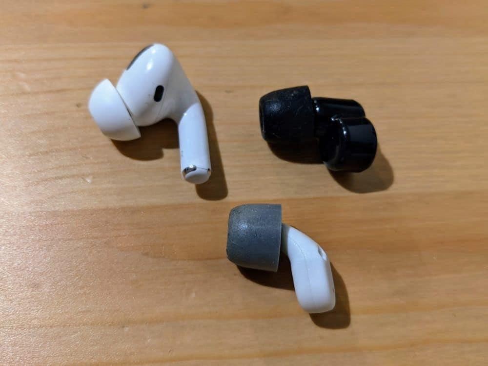 Apple Airpods Pro, QuietOn 2, QuietOn 3