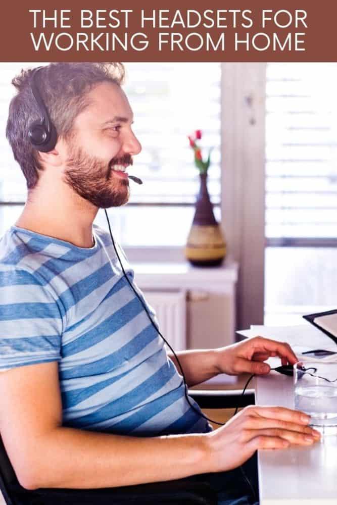 Man sitting at desk wearing headset